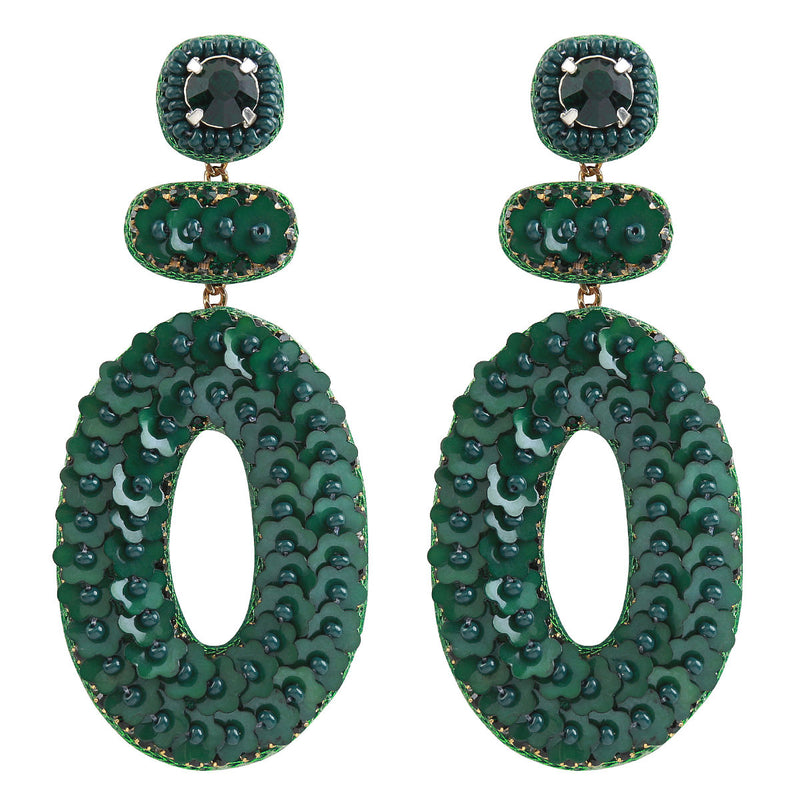 Deepa by Deepa Gurnani Handmade Britt Earrings in Green