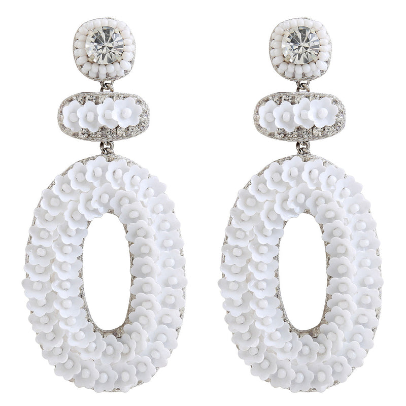 Deepa by Deepa Gurnani Handmade Britt Earrings in White