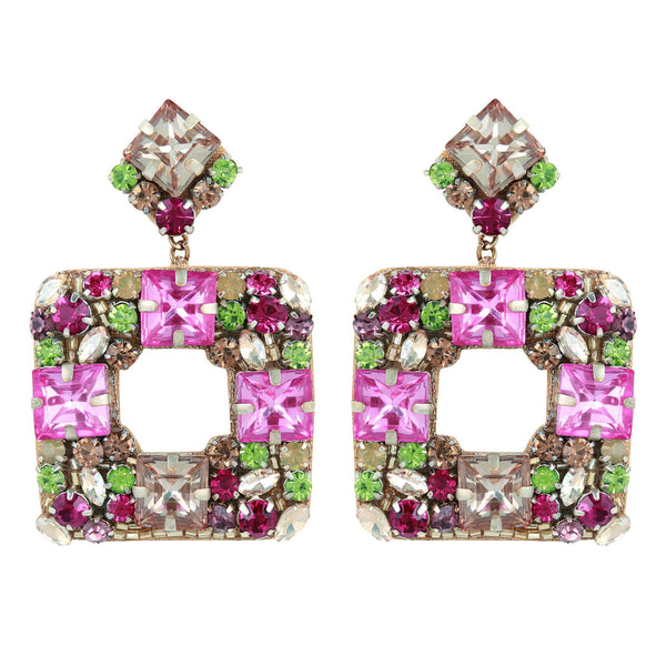 Deepa by Deepa Gurnani Handmade Jazlyn Earrings in Fuchsia