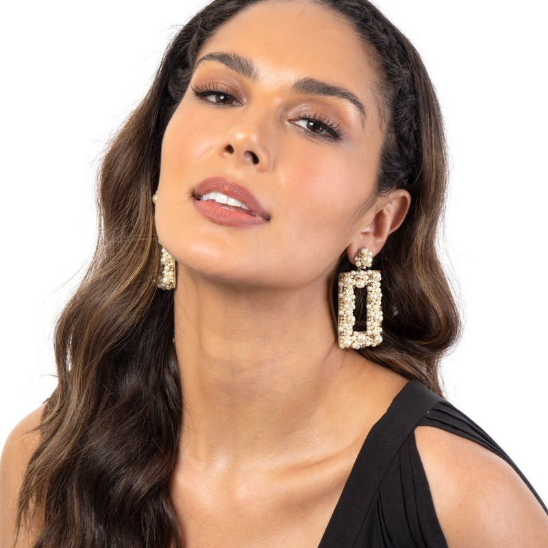 Deepa Gurnani's  Sophia Earrings are your new go-to accessory for every day of the week