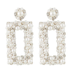 Deepa by Deepa Gurnani Sophia Earrings Ivory