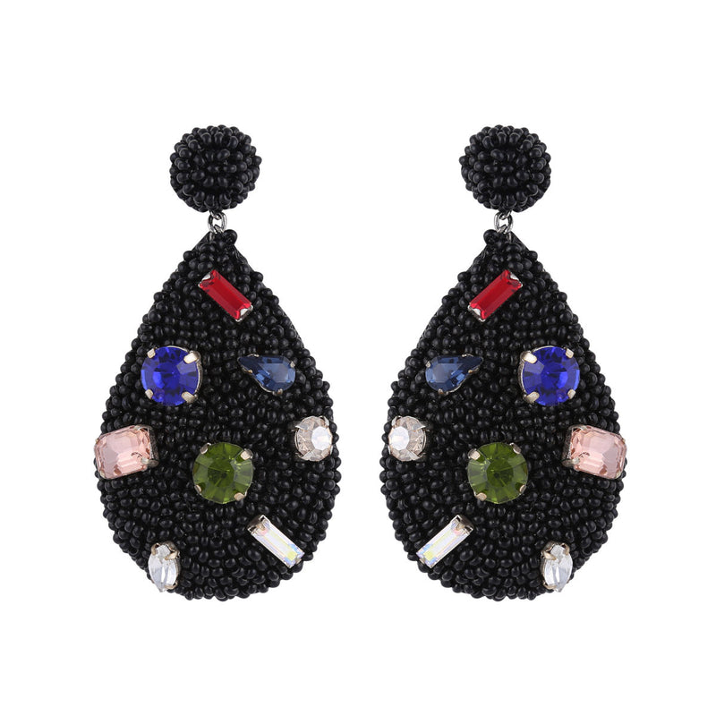 Deepa by Deepa Gurnani Tia Earrings Black