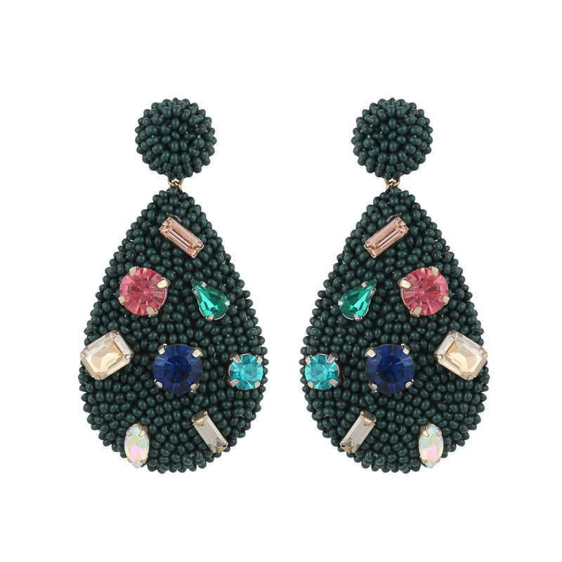 Deepa by Deepa Gurnani Tia Earrings Emerald