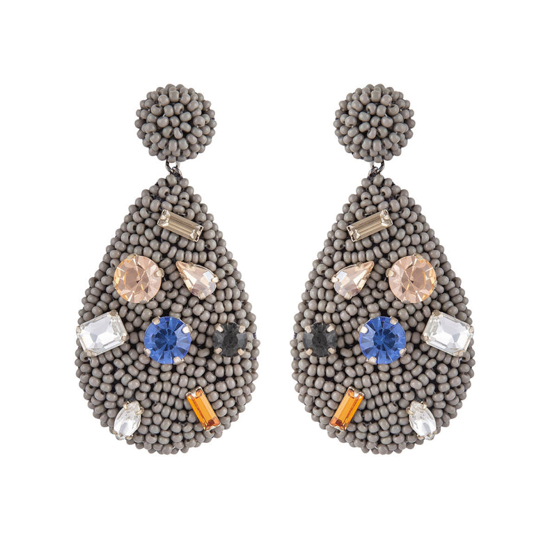 Deepa by Deepa Gurnani Tia Earrings Grey
