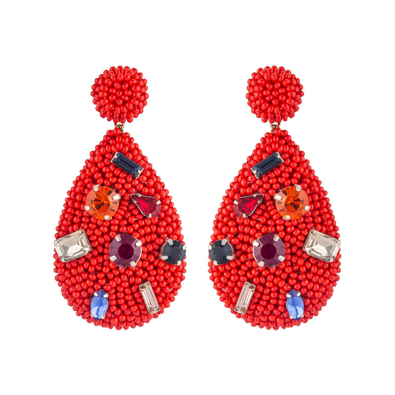 Deepa by Deepa Gurnani Tia Earrings Red