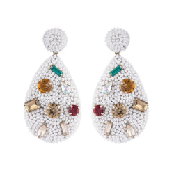 Deepa by Deepa Gurnani Tia Earrings White