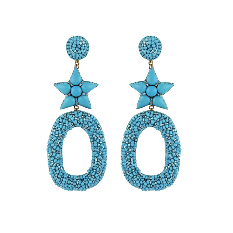 Deepa by Deepa Gurnani Dasia Earrings Aqua