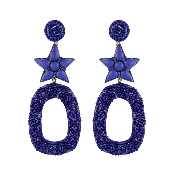 Deepa by Deepa Gurnani Dasia Earrings Cobalt