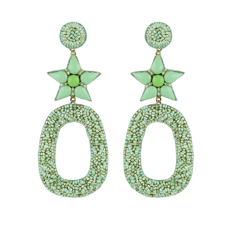 Deepa by Deepa Gurnani Dasia Earrings Chartreuse