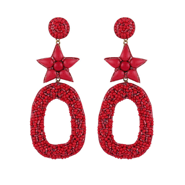Deepa by Deepa Gurnani Dasia Earrings Red