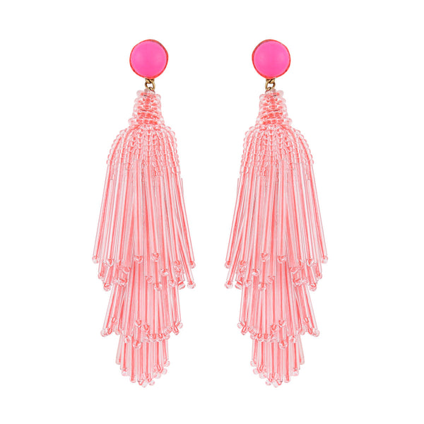 Deepa by Deepa Gurnani Handmade Neon Pink Electra Earrings