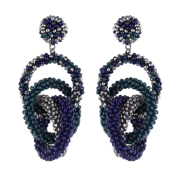 Deepa by Deepa Gurnani Carolyn Earrings Emerald