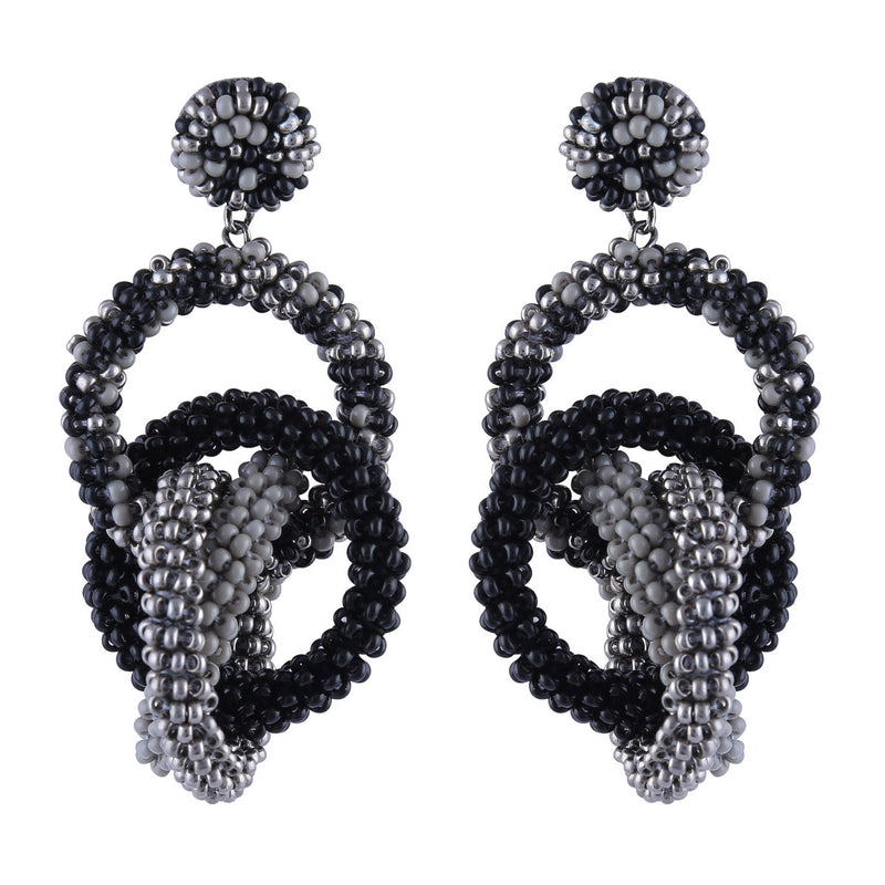 Deepa by Deepa Gurnani Carolyn Earrings Grey