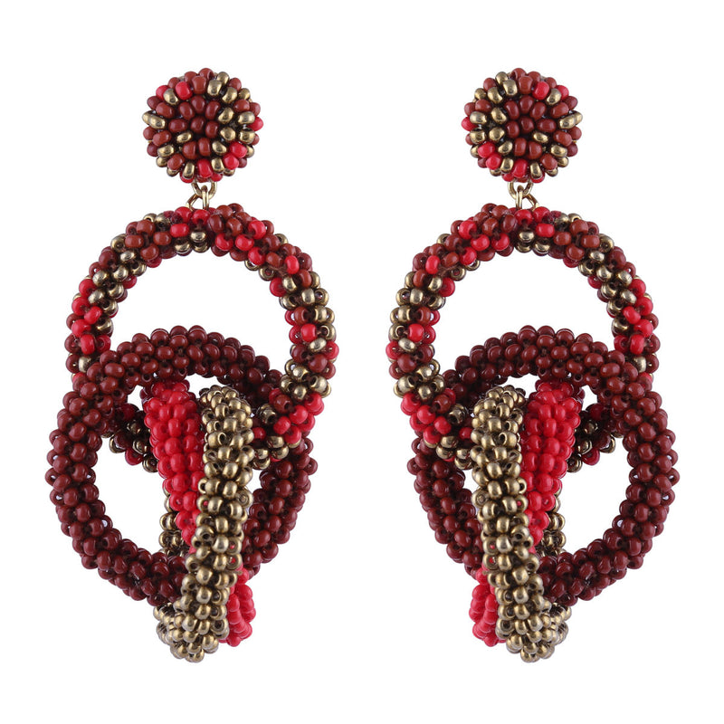 Deepa by Deepa Gurnani Carolyn Earrings Red