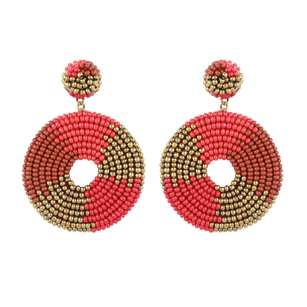 Deepa by Deepa Gurnani Baylee Earrings Red
