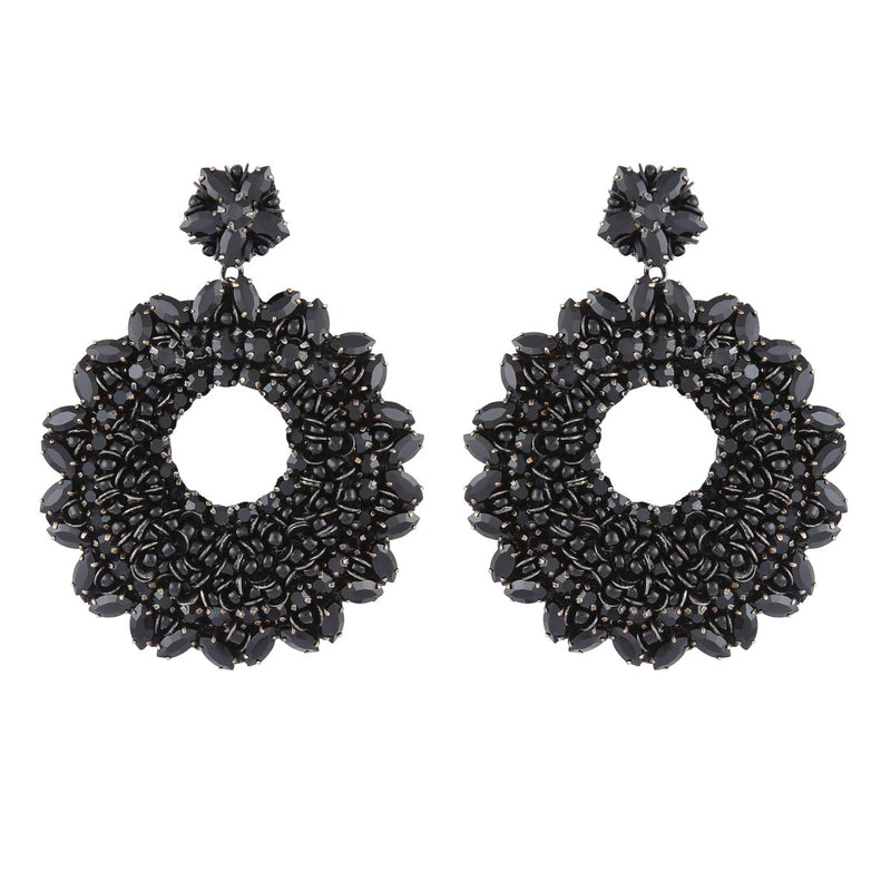 Deepa by Deepa Gurnani Carter Earrings Black
