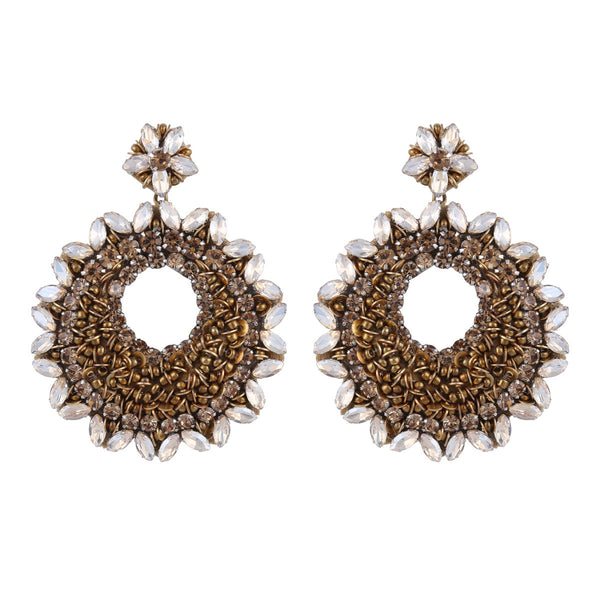 Deepa by Deepa Gurnani Carter Earrings Gold