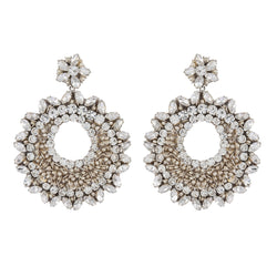Deepa by Deepa Gurnani Carter Earrings Silver