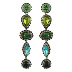Deepa by Deepa Gurnani Handmade Deedee Earrings Green