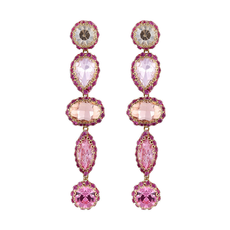 Deepa by Deepa Gurnani Handmade Deedee Earrings Peach