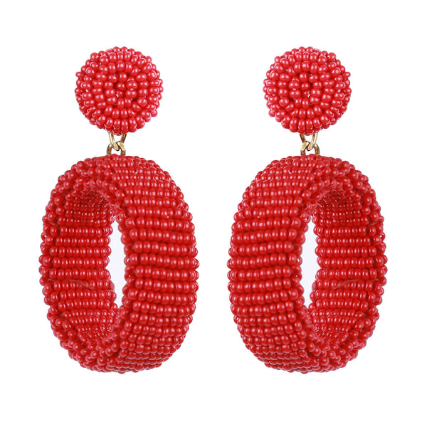 Deepa by Deepa Gurnani Lianne Earrings Red