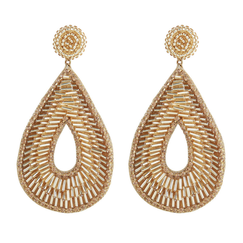 Deepa by Deepa Gurnani Abia Tear Drop Earrings Gold