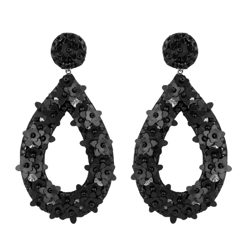 Deepa by Deepa Gurnani Handmade Black Jan Earrings