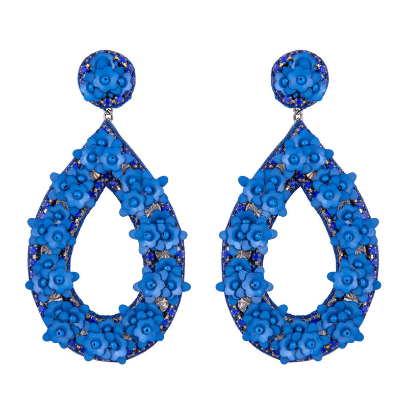 Deepa by Deepa Gurnani Handmade Blue Jan Earrings