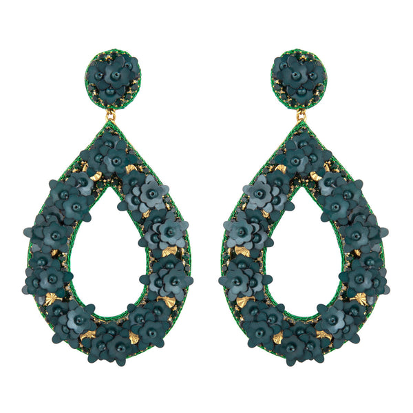 Deepa by Deepa Gurnani Handmade Green Jan Earrings