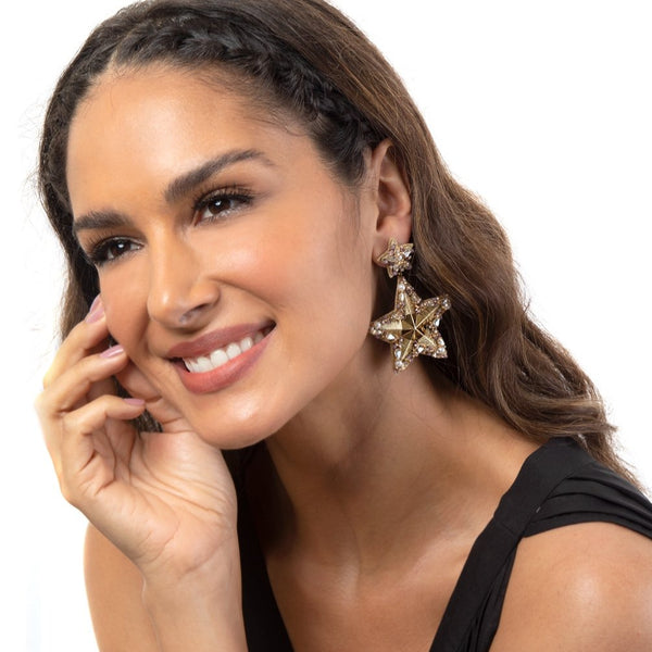 Handmade Star Earrings by Deepa Gurnani