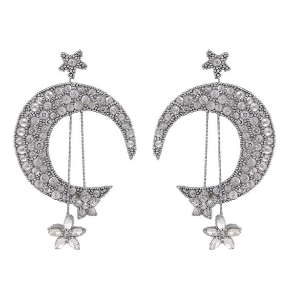 Deepa by Deepa Gurnani Handmade Crescent Earrings