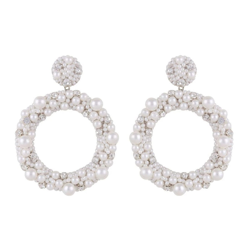 Deepa by Deepa Gurnani Handmade Amorie Earrings Ivory
