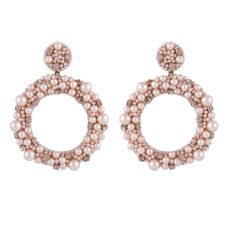 Deepa by Deepa Gurnani Handmade Amorie Earrings Peach