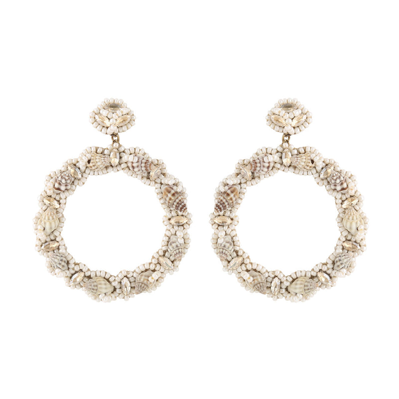 Deepa by Deepa Gurnani Handmade Halley Earrings Ivory