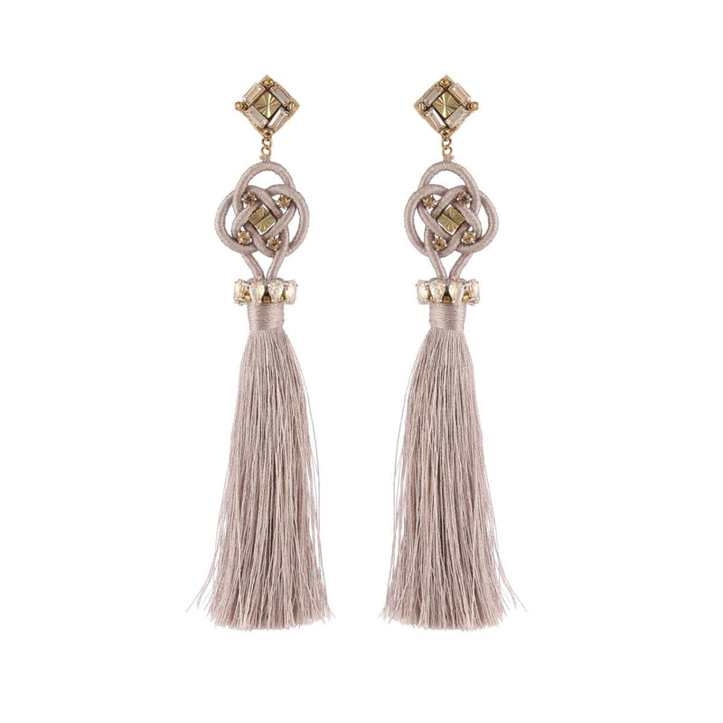 Deepa by Deepa Gurnani Handmade Omaria Earrings Champagne