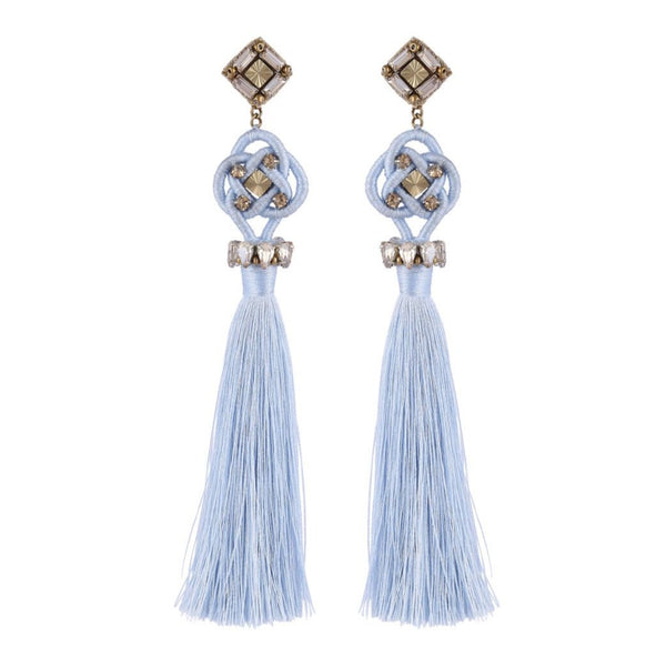 Deepa by Deepa Gurnani Handmade Omaria Earrings Powder Blue