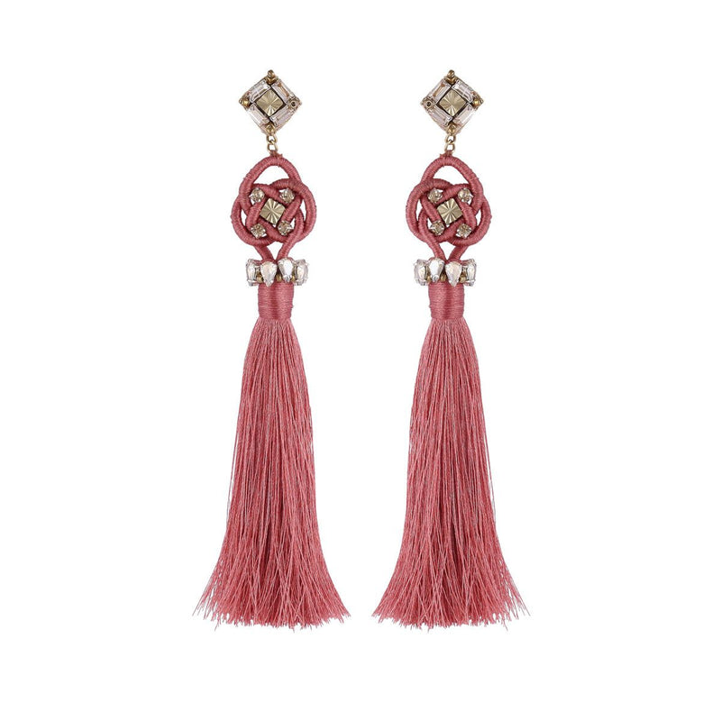 Deepa by Deepa Gurnani Handmade Omaria Earrings Rose