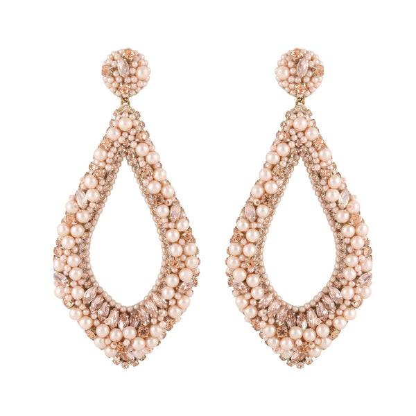 Deepa by Deepa Gurnani Handmade Laci Earrings Peach