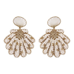 Deepa by Deepa Gurnani Handmade Pennie Earrings Ivory