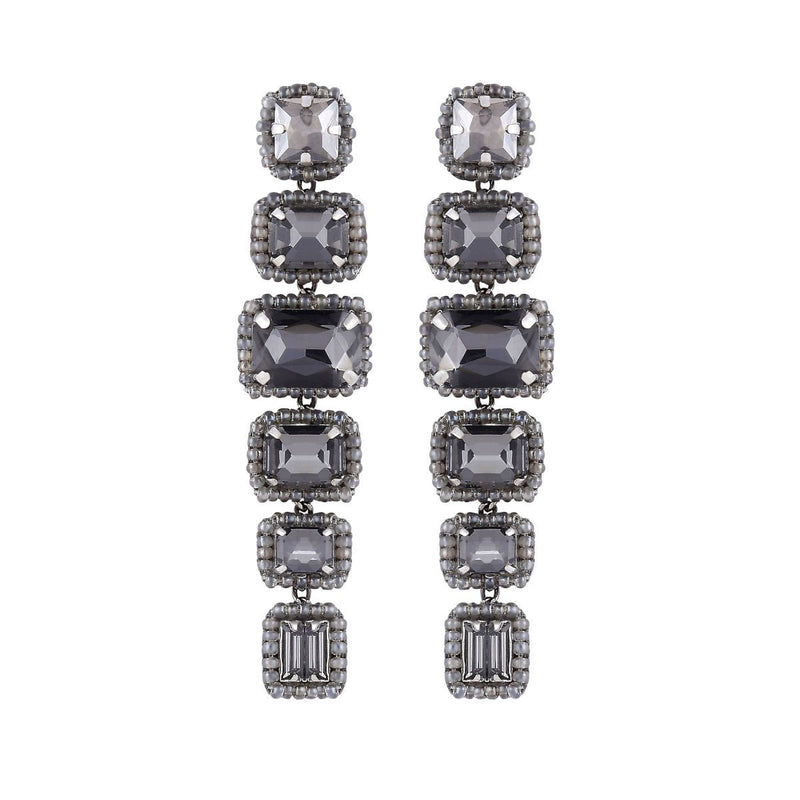 Deepa by Deepa Gurnani Handmade Bree Earrings Gunmetal