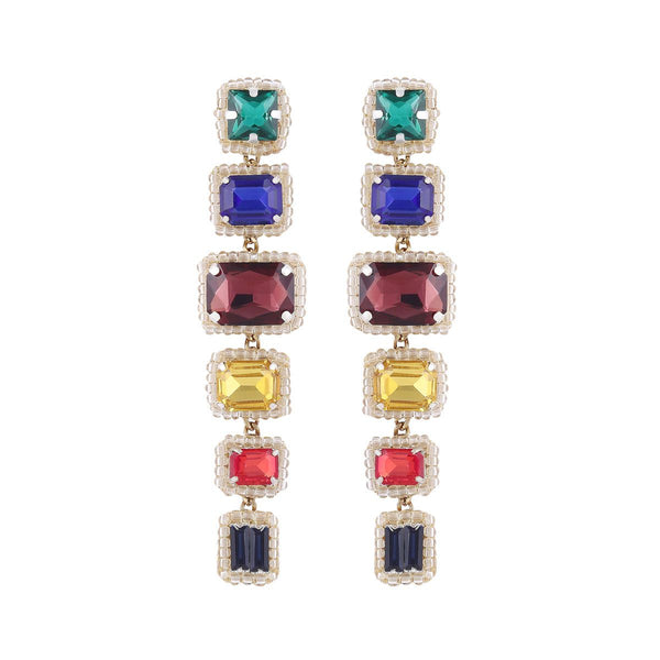 Deepa by Deepa Gurnani Handmade Bree Earrings Multi Color
