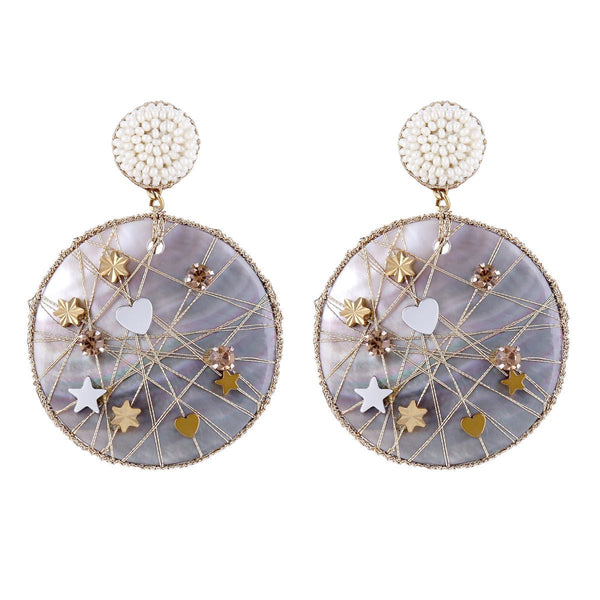 Deepa by Deepa Gurnani Handmade Ives Earrings Ivory