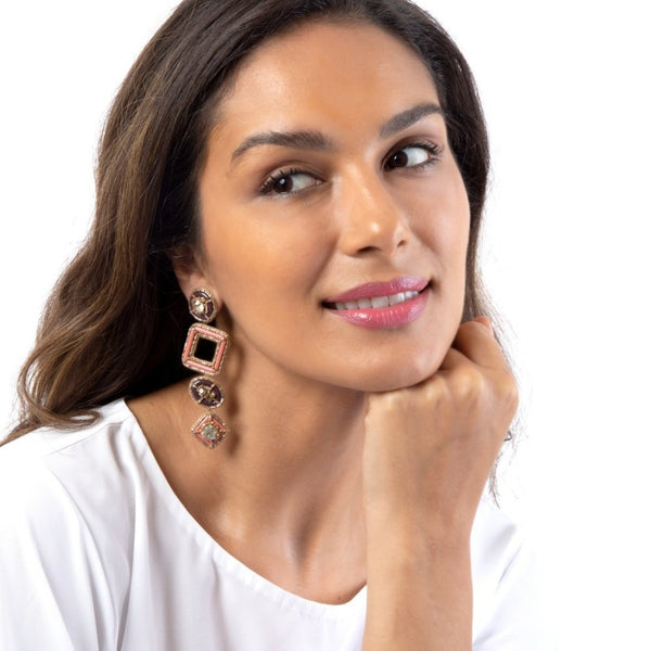 Handmade Pamelia Earrings for a unique look and feel.