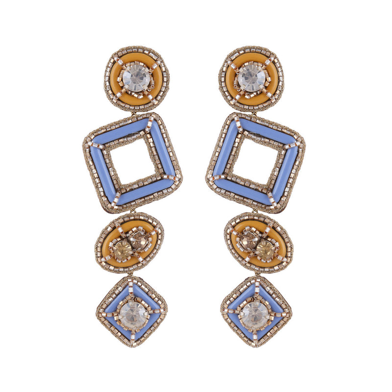 Deepa by Deepa Gurnani Handmade Pamelia Earrings Blue
