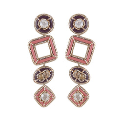 Deepa by Deepa Gurnani Handmade Pamelia Earrings Pink