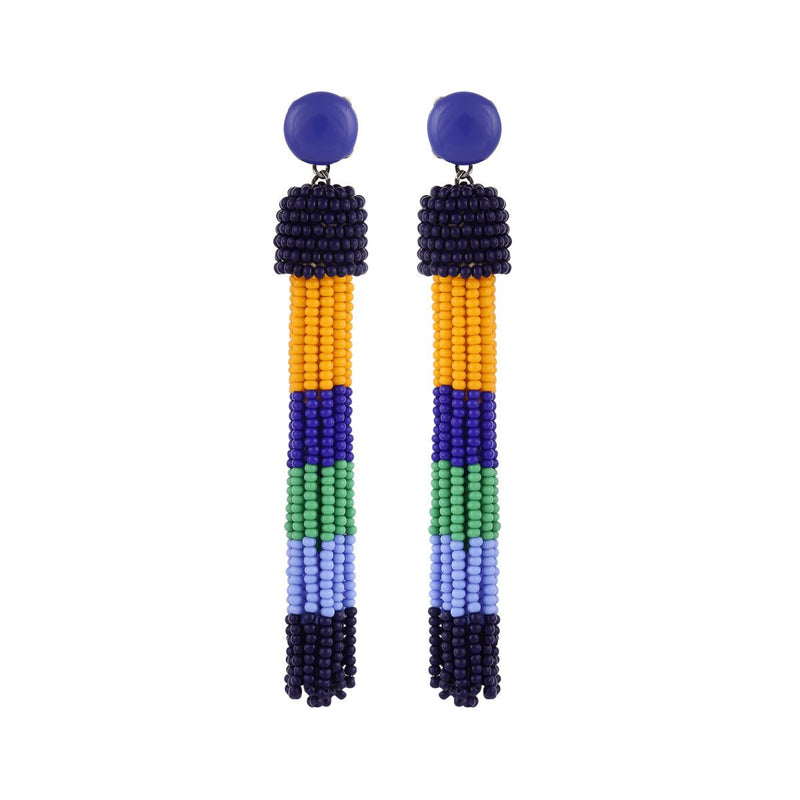 Deepa by Deepa Gurnani Handmade Erika Earrings Blue