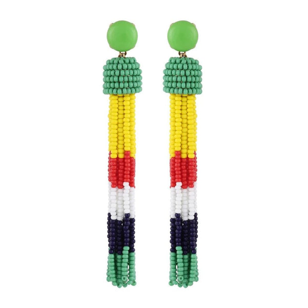 Deepa by Deepa Gurnani Handmade Erika Earrings Green