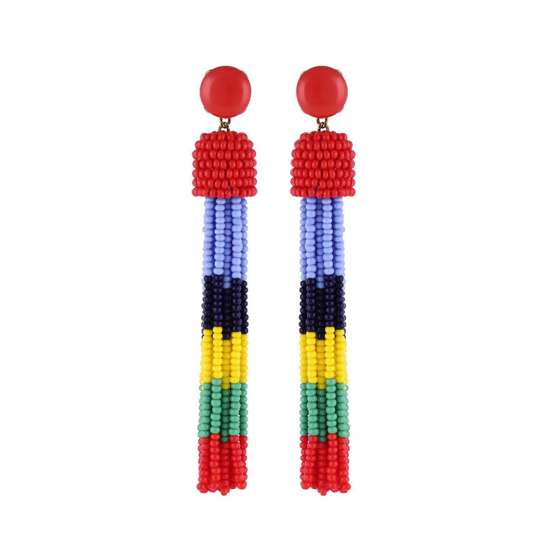 Deepa by Deepa Gurnani Handmade Erika Earrings Red