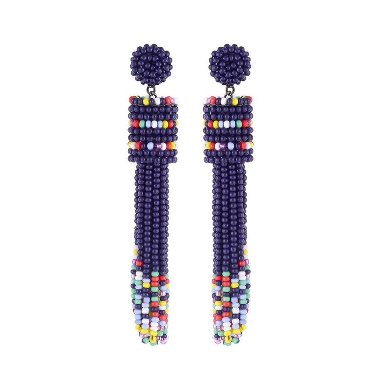 Deepa by Deepa Gurnani Handmade Emie Earrings Navy