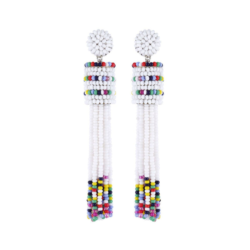 Deepa by Deepa Gurnani Handmade Emie Earrings White